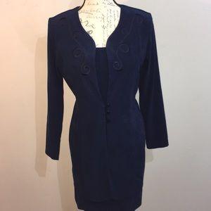 Classy dark blue  business dress / suit - Sz 6